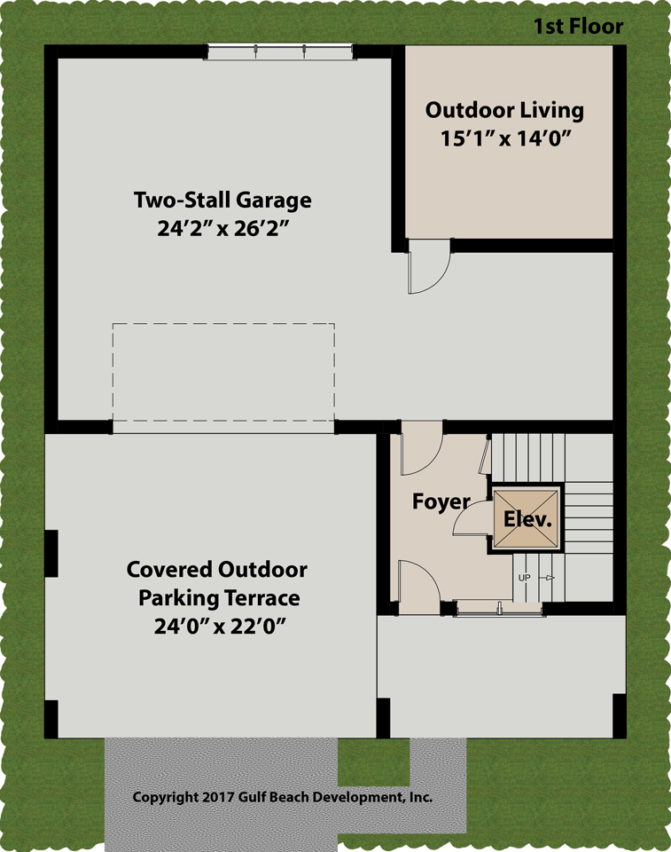 Island bay florida house plan gast homes for Bay house plans