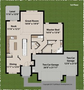 Adair Florida house plan 1st floor