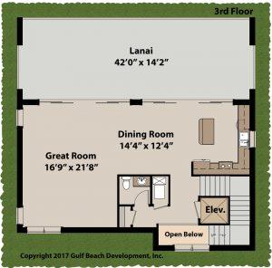 Island Bay Coastal House Plan 3rd Floor