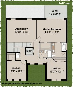 Harbor View House Plan 3rd Floor