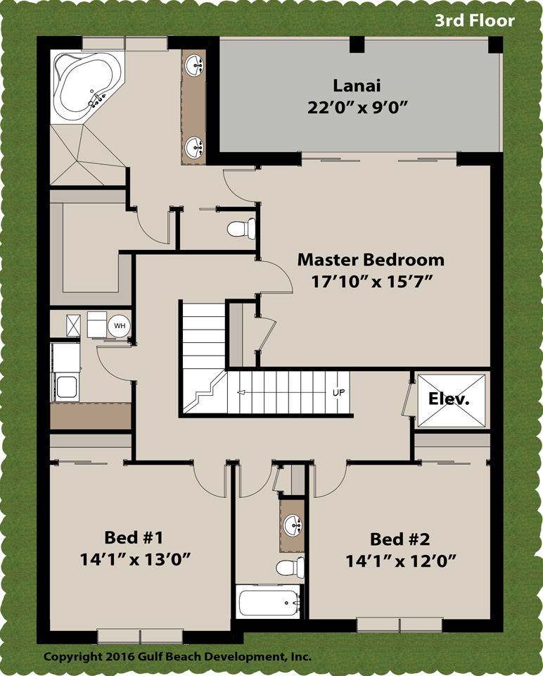 Island key florida house plan gast homes Floridian house plans