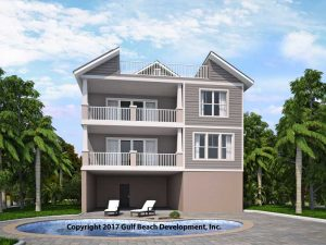Island Key House Plan Rear