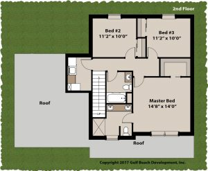 Springfield two story house plan 2nd floor