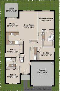 Summerport ICF house plan 1st floor