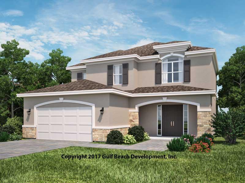 Sundowner florida house plan gast homes for Florida home builders floor plans