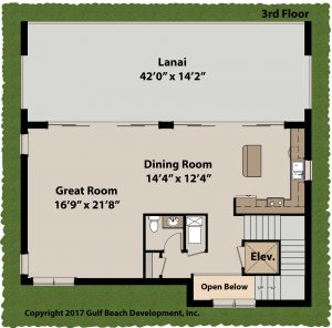 Island Bay Coastal House Plan 3rd Floor