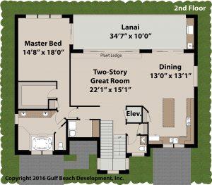 Bahama Bay 2nd floor house plan