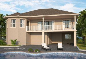 Blue Tide Coastal House Plan Rear