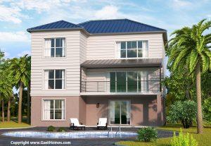 Breeze Harbor Coastal House Plan Rear