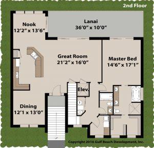 Grand Island Coastal House Plan 2nd floor
