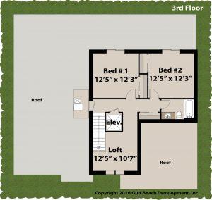 Grand Island Coastal House Plan 3rd floor