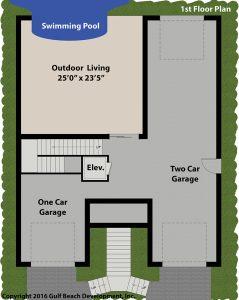 Harbor View House Plan 1st Floor