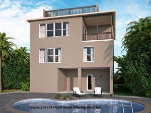 Dolphin Bay Coastal House Plan Rear