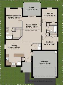 Newberry ICF home Builder plan floor plan