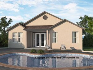 Royal Oaks Insulated Concrete Form home plans rear