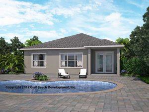 Summerport ICF house plan rear