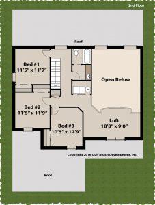 Sundowner two story house plan 2nd Floor